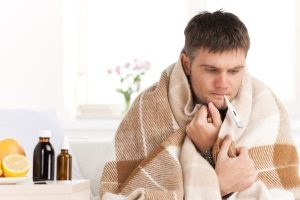 man with the common cold who is staying home from work but is not eligible for leave under the Family and Medical Leave Act