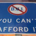 First Offense DUI Fines Sign