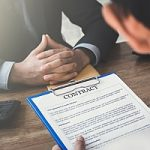 an employer reviewing a contract with an employee