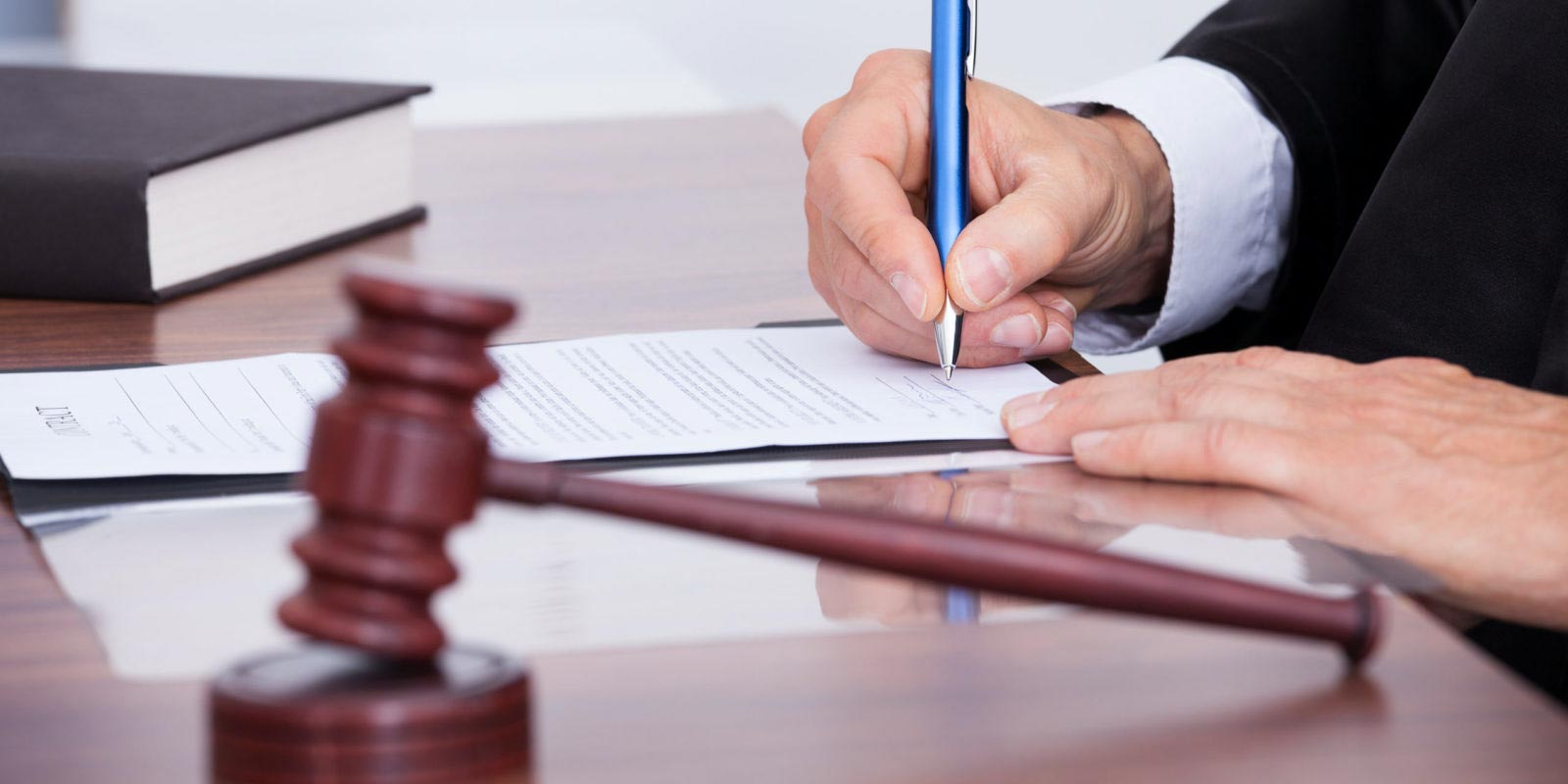 Attorney looking over premises liability case information