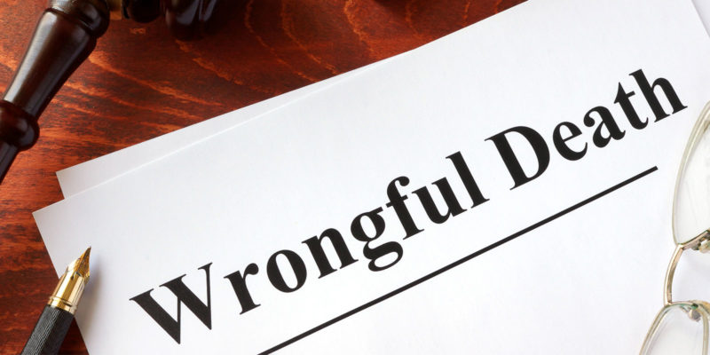wrongful death claim in a attorney office