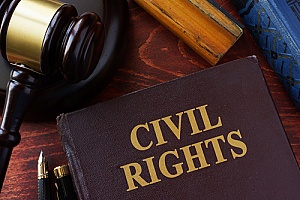 gavel and civil rights book on desk