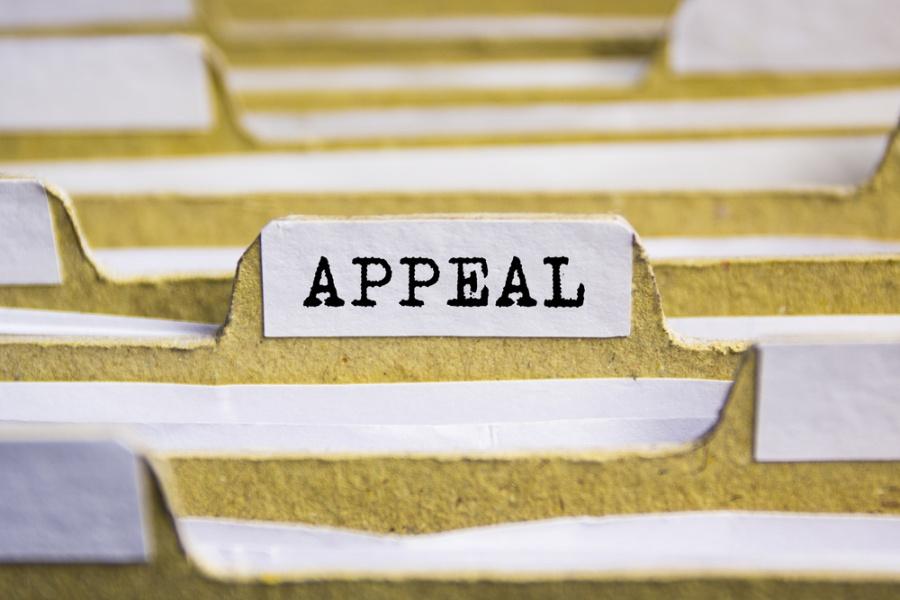 appeals paperwork