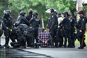 excessive use of force by police during an arrest of two people