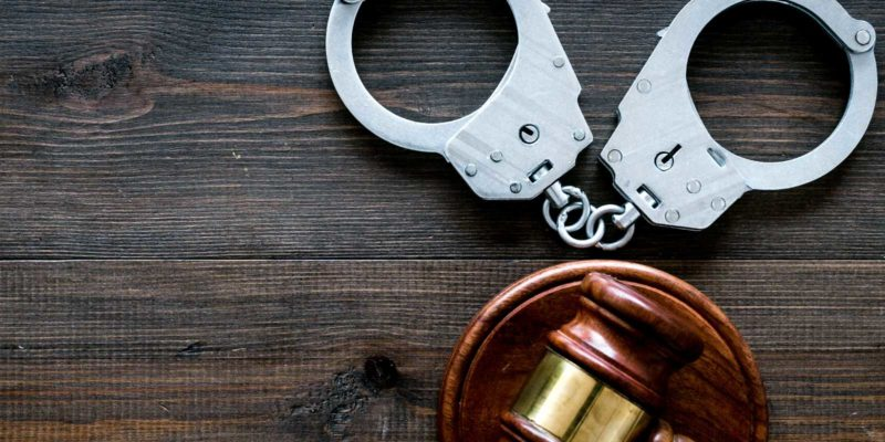 the handcuffs are used as evidence in a unlawful arrest case