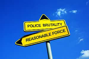 Police brutal signage board. Each state sets its own statute of limitations