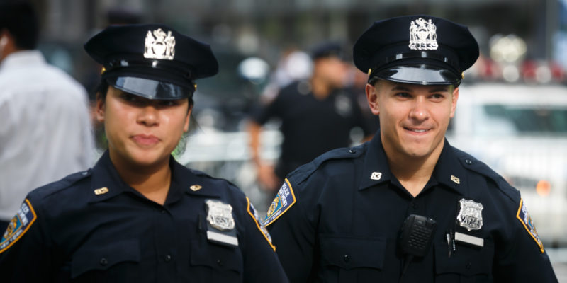 the police officers are trained on the topic of police brutality before patrolling