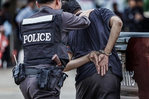 Police steel handcuffs