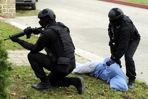 police arresting a protester